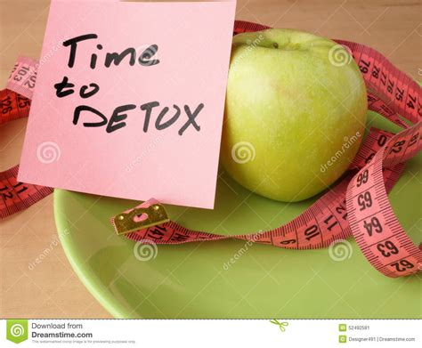 Food Detox Period Animal by Time To Detox Chalk Inscription On The Wooden Table And