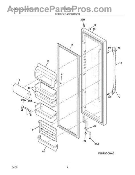 parts for frigidaire fphc2399kf1 refrigerator door parts