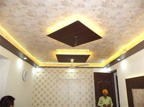 wallpaper design for ceiling false ceiling design and wallpaper by mohali interiors