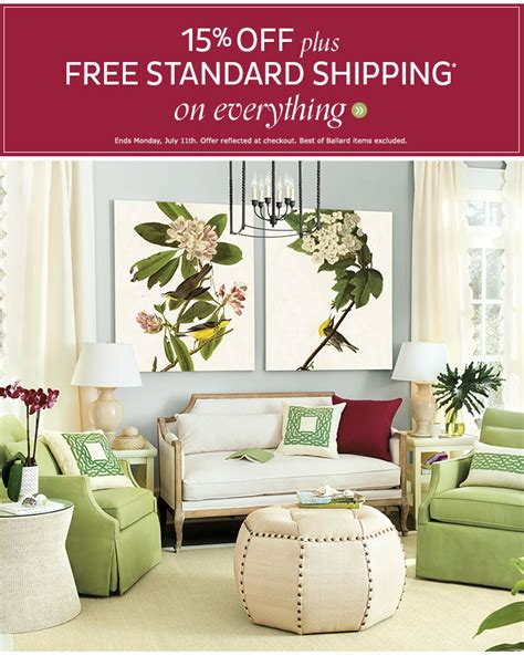 ballard design free shipping ballard designs go bold with 15 free shipping sitewide milled