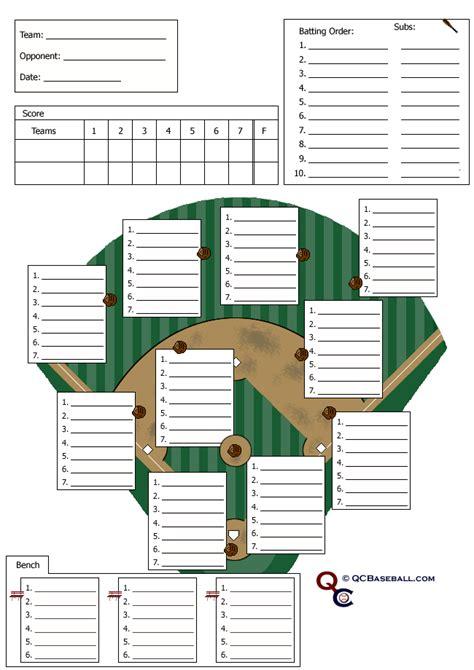 baseball line up card lineupcards com recreational baseball