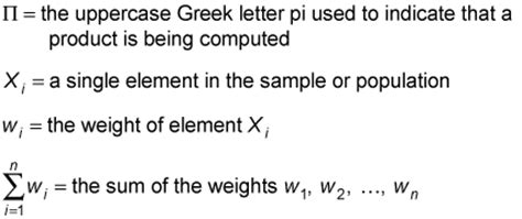 How To Find The Weighted Geometric Mean Of A Data Set