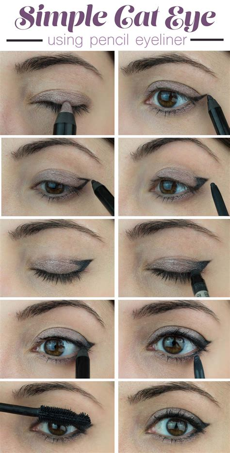 Eyeliner Pencil Makeover how to do cat eyeliner with pencil diy makeup ideas