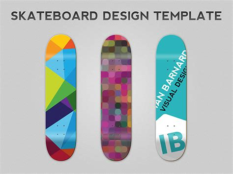 Template Ian Barnard Skateboard Design Template
