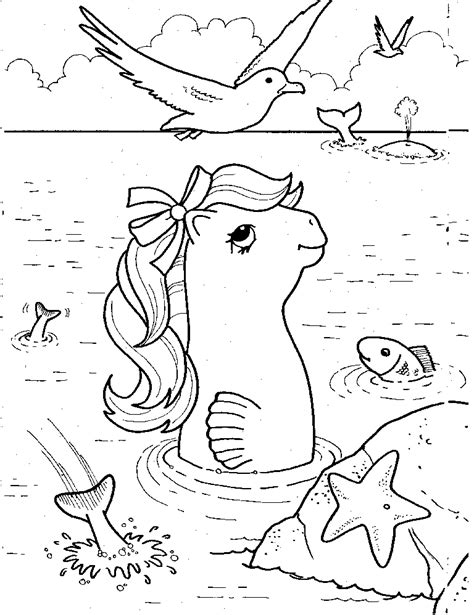 sea pony coloring pages my little pony coloring pages coloring my little pony
