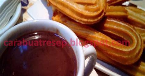 membuat churros renyah saus coklat resep masakan