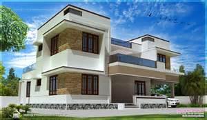 3080 square luxury villa exterior modern flat roof villa exterior elevation kerala home