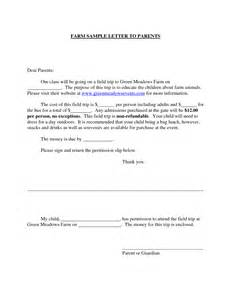 Parents Consent Letter Sle For Field Trip Permission Letter To Parents For Field Trip