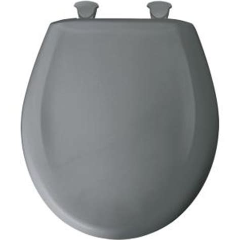 bemis closed front toilet seat in classic grey