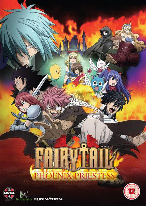 anime fairytale the movie a review of fairy tail the movie phoenix priestess