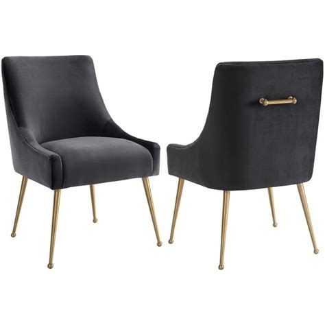 Gold Fabric Dining Room Chairs Tov Furniture Beatrix Grey Velvet Side Dining Chair W