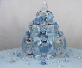 Baby shower ideas for boys centerpieces 3 tier baby bottle diaper cake