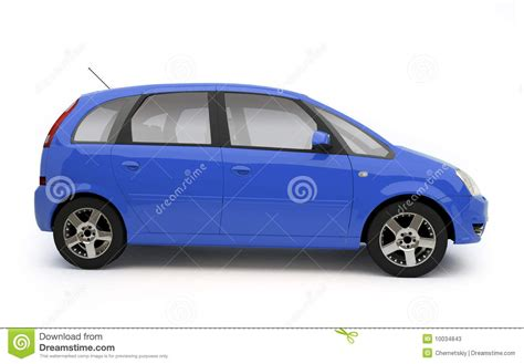 family car side view multi purpose blue car side view stock photos image