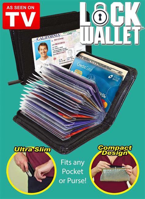 Security Wallet Credit Card Lock Dompet Kartu Lock Wallet Secure Rfid universal lock wallet secure rfid blocking credit card