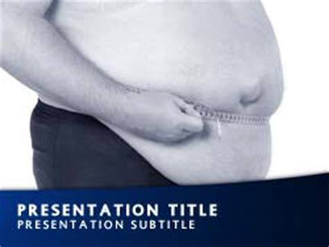 Royalty Free Obesity Powerpoint Template In Blue Obesity Powerpoint Presentation Templates