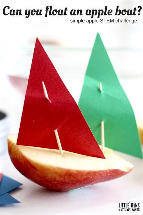 floating boat stem project apple stem activities for kids fall engineering ideas