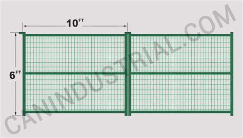 10 Foot Trellis Panels Commercial Fence Panel 6 X 10 Green Can