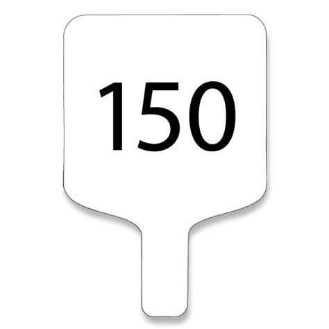 Auction Paddle Clipart Auction Paddle Number Template