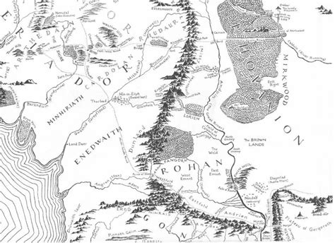 lord of the rings coloring book map of middle earth coloring book