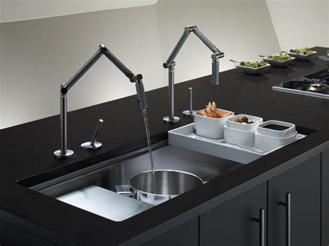 Kohler Kitchen Sink Faucet by Kohler Karbon Faucet And Stages 45 Quot Under Mount Sink Perfect Chefs Kitchen Kitchen