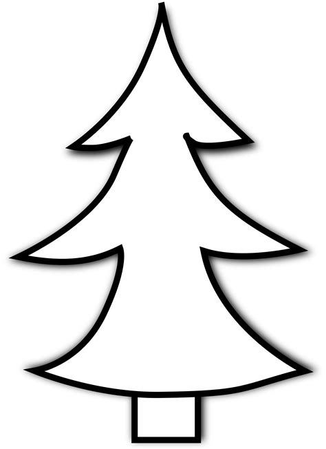 tree black and white christmas tree clipart black and