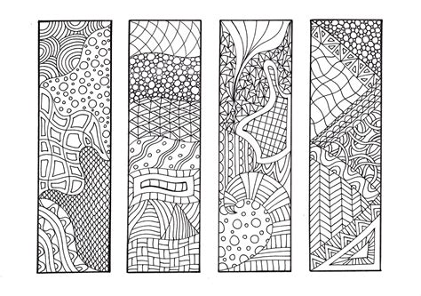 free printable bookmarks you can color zentangle inspired printable coloring bookmarks 12 unique