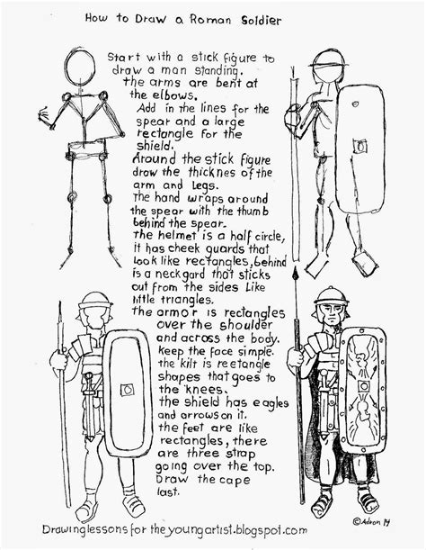 ancient rome worksheets how to draw a legion soldier worksheet how to draw worksheets for artist