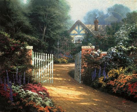 Hidden Cottage The Thomas Kinkade Company Kinkade Cottages