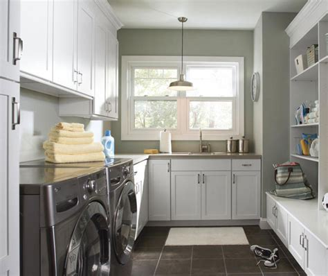laundry room cabinets in painted white maple aristokraft