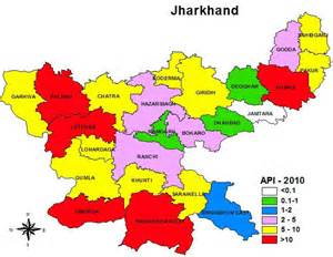 Jharkhand by Tourists States Cities Maps Of India