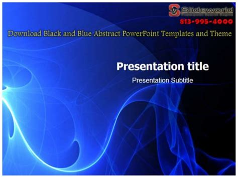 black theme abstract powerpoint templates abstract download black and blue abstract powerpoint templates and