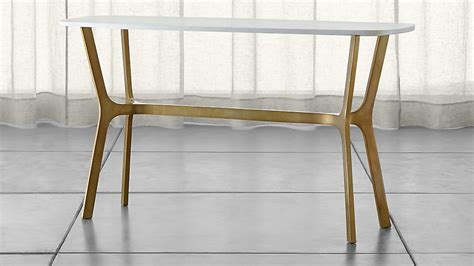 marble console table elke marble console table crate and barrel