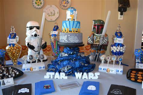 star wars theme cake candy buffet kaydens  bday star wars birthday star wars party