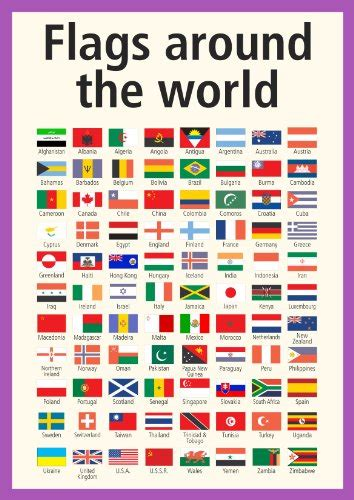 printable pictures of flags from around the world flags of the world poster