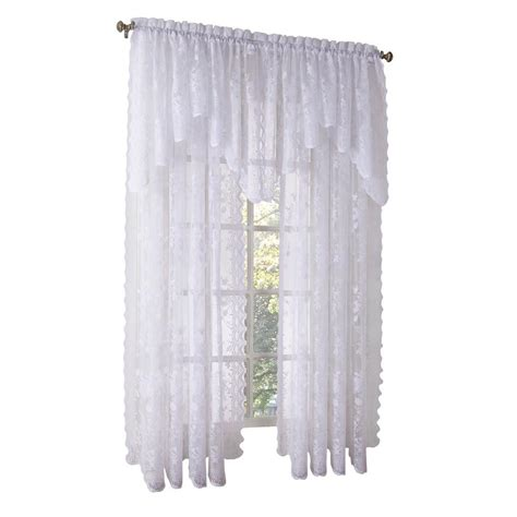 swag lace curtains lichtenberg multi eden printed textured sheer kitchen
