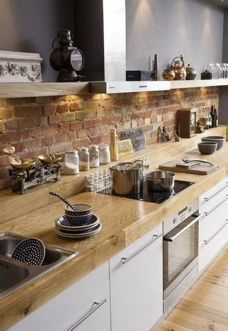 exposed brick kitchen brick wall kitchen on pinterest scandinavian interior