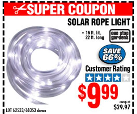 Extreme Slashed Prices Harbor Freight Solar Rope Light