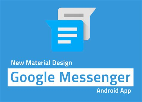 google updated with material design for android lollipop google messenger gets updated with animated gif widget