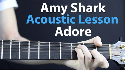 baby shark guitar tutorial amy shark adore acoustic guitar lesson easy youtube