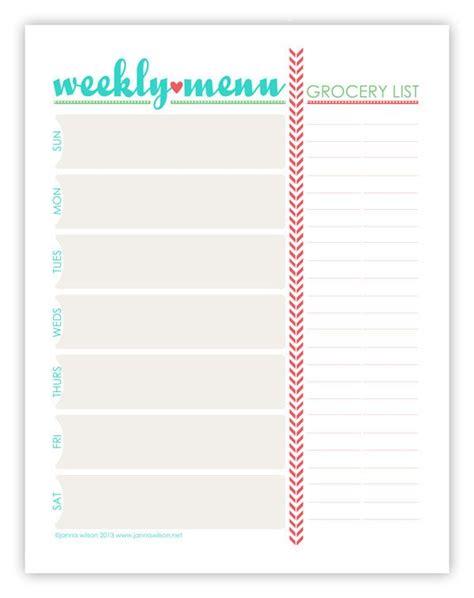 printable menu planning templates best 25 weekly menu printable ideas on pinterest weekly