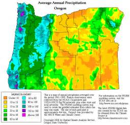 oregon precipitation map