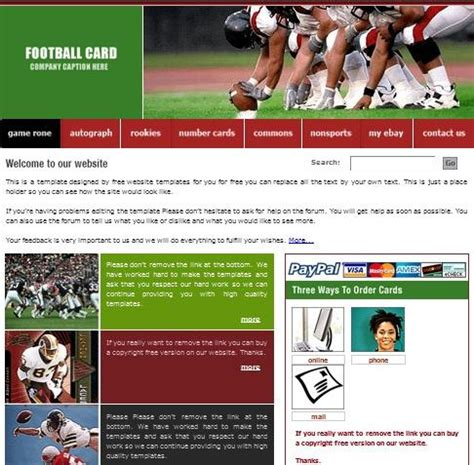 card website template 20 free html css sports website templates utemplates