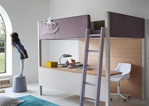nidi camelot bunk bed with desk modern bunk beds at mood