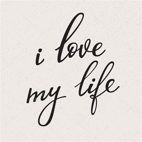 imagenes de i love you my life ich liebe mein leben vektor schriftzug stockvektor