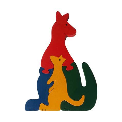 Animal Puzzle kangaroo wooden animal puzzle jigzoos australia jigzoos