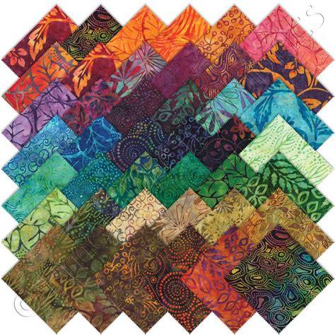 Batik Quilting Fabrics by Moda Batiks Charm Pack Emerald City Fabrics