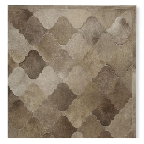 Brown Hide Rug Pieced Gate Hide Rug Brown Williams Sonoma