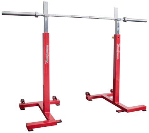 magnum fitness portable squat stand set commercial grade