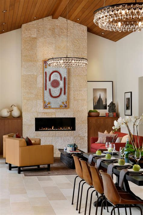 zen inspired dining  living room  circular