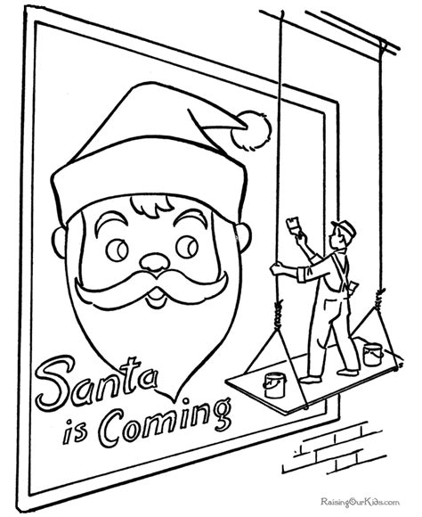 coloring book billboard santa coloring pages billboard